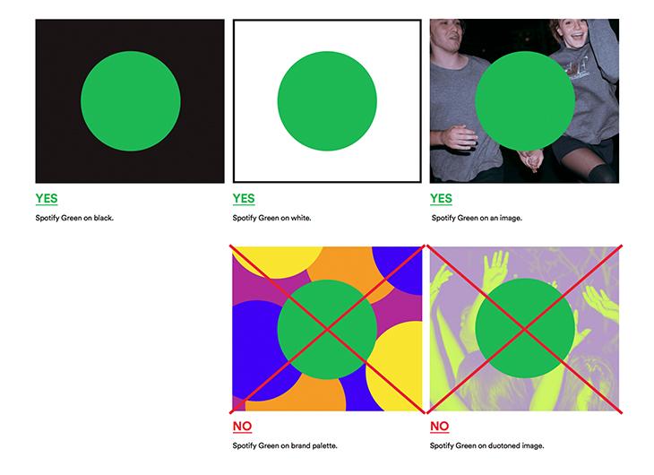 spotify color scheme guidelines