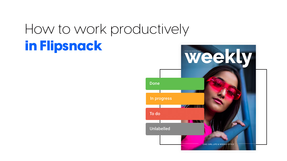 How to work productively in Flipsnack cover