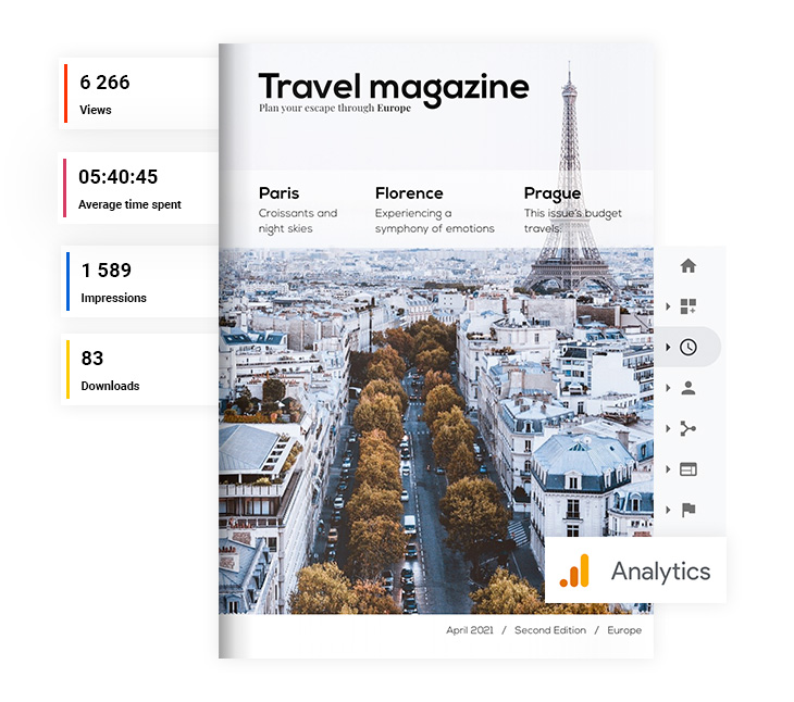 HTML5 flipbooks provide marketing statistics