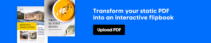 Transform your PDF into an interactive flipbook in Flipsnack banner