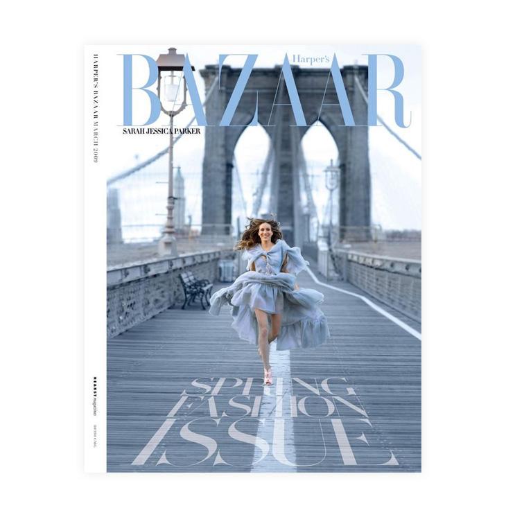 Sarah Jessica Parker on the harper's bazaar magazine cover