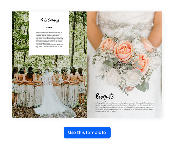 baille simpson font used in a wedding template