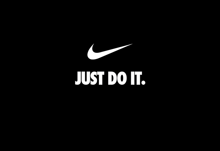 """Nike's logo that says """"just do it"""""""
