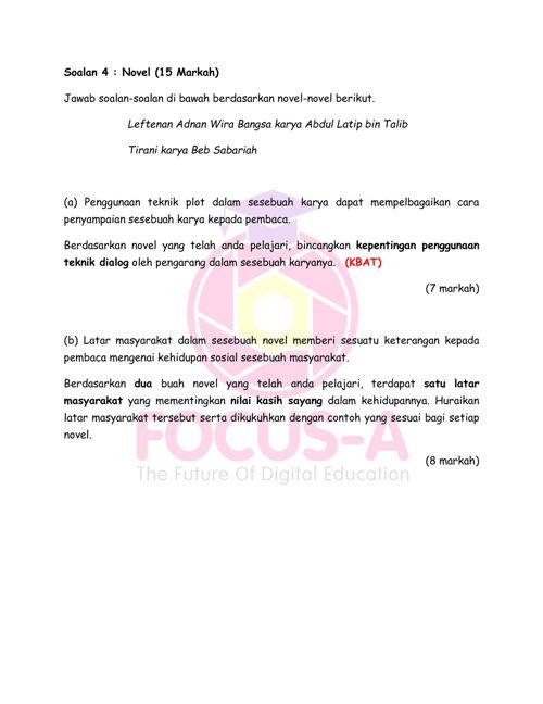 Gg Bm Spm Soalan 4 Novel Set 2 By Mindappz Flipsnack