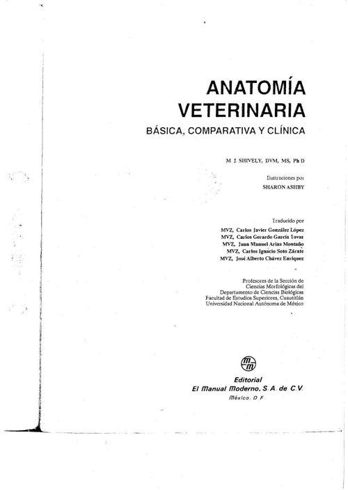 shively anatomia veterinaria