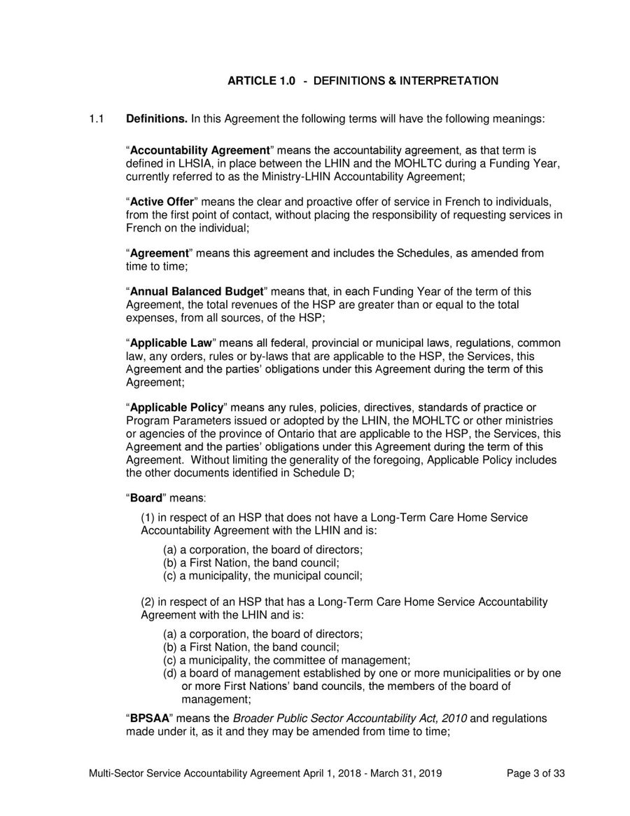 Service Accountability Agreement By Haven Toronto Flipsnack