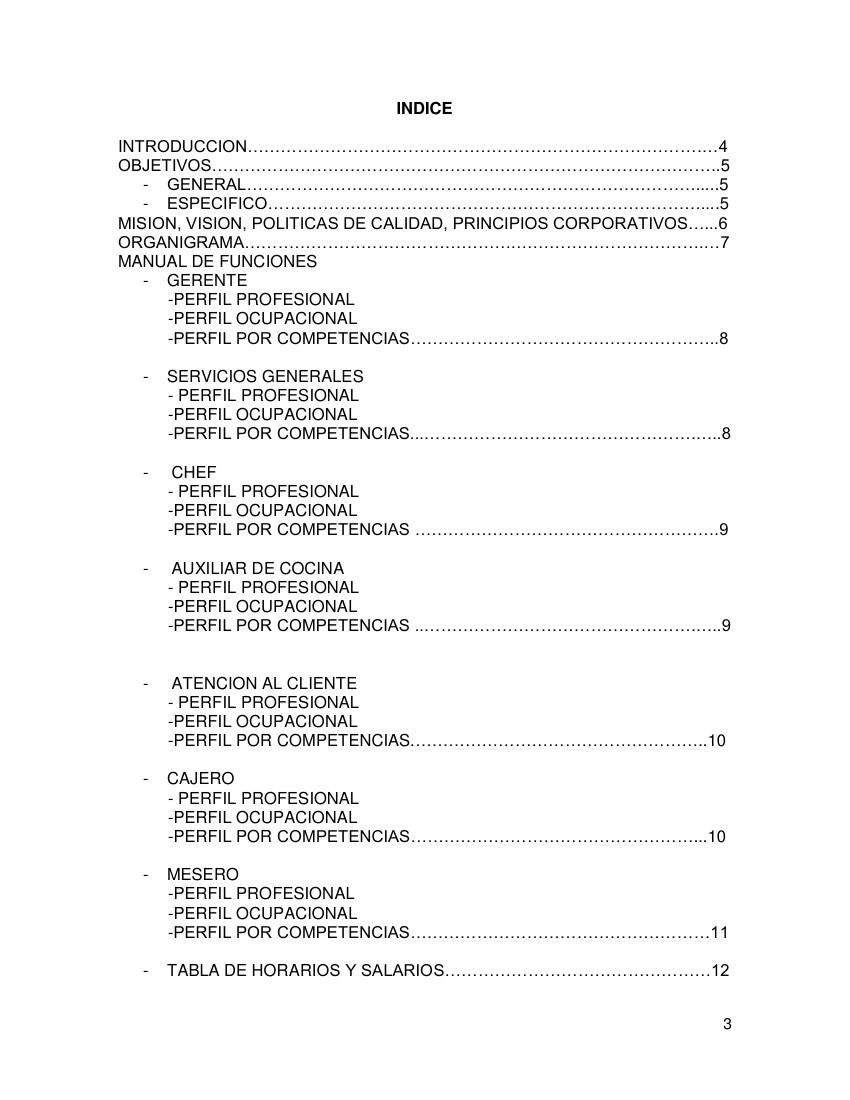 manual de funciones Restaurante Chef Castellano by... - Flipsnack