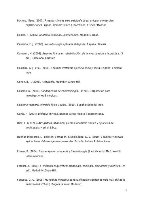 Bibliografa Bachillerato Y Licenciatura Terapia Fisica By