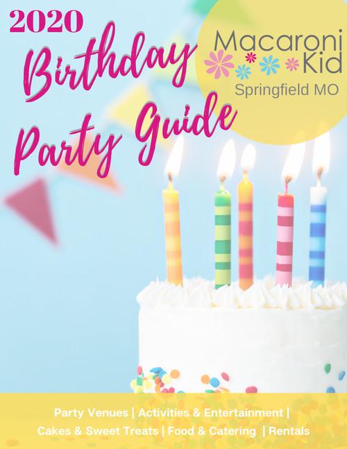 Sensational Macaroni Kid Springfield Mo 2020 Birthday Party Guide By Janel Funny Birthday Cards Online Alyptdamsfinfo