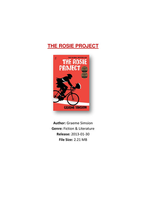 Rosie Project Pdf