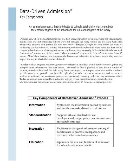 Data-Driven Admission Model - Enrollment org