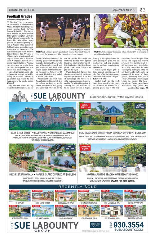Gazette Sports - September 13, 2018 (e-edition) | | gazettes com