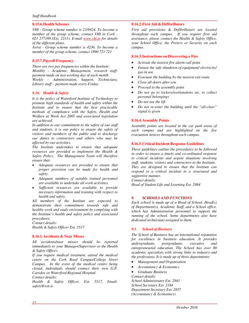 Documents policies for staff waterford institute of technology email wajeb Images