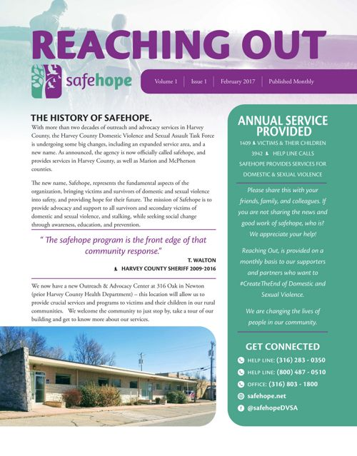 Monthly Newsletter  Safehope