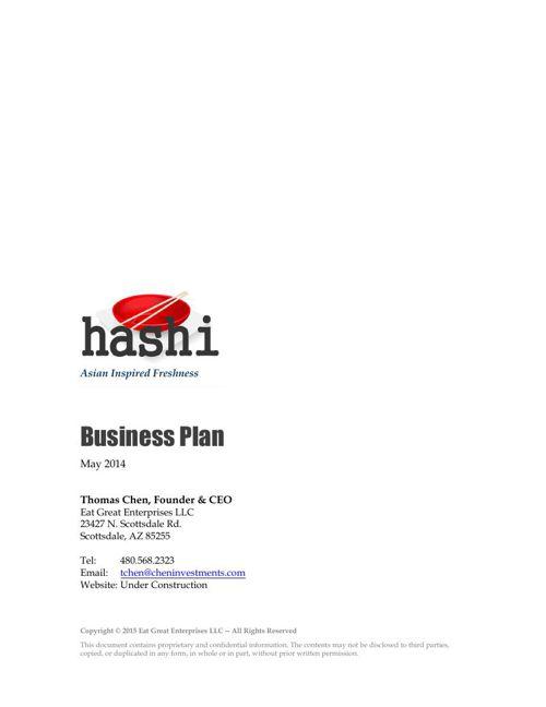 Sample Restaurant Business Plan – Sample Business Plans