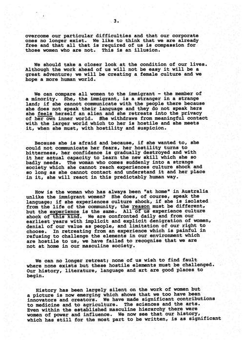 International Women\'s Year Speech by Mrs Margaret Whitlam by Whitlam ...