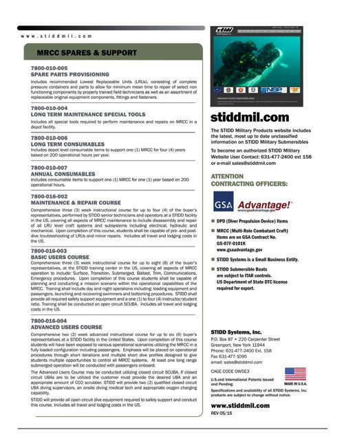Sub-Boat Catalog | STIDD Systems, Inc