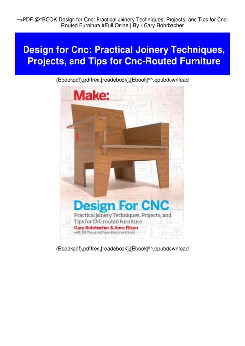 Pdf Book Design For Cnc Practical