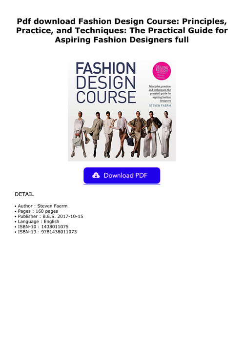 Pdf Download Fashion Design Course Principles Practice An By Mammaklr Flipsnack
