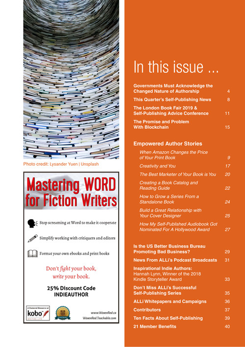 The Indie Author Magazine, ALLi Members' Self-publishing