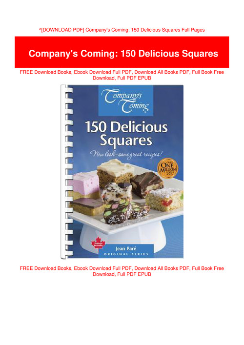 Download Pdf Company S Coming 150 Delicious Squares Full Pages