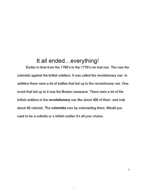 Examples Of A Thesis Statement In An Essay  College Essay Paper also Model Essay English Revolutionarywaressayginofioribello By Gino Fioribello  Flipsnack High School Essays Samples