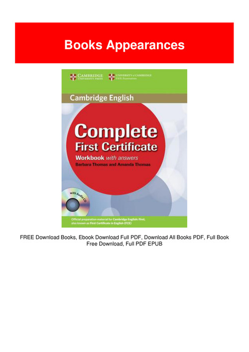 complete first certificate pdf free download