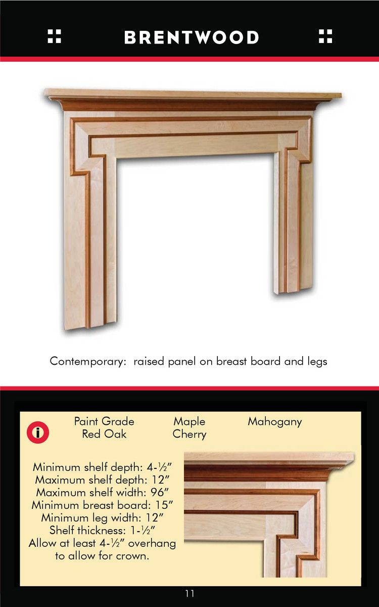Oregon Wood Specialties - Pre-designed and custom fireplace Mantels