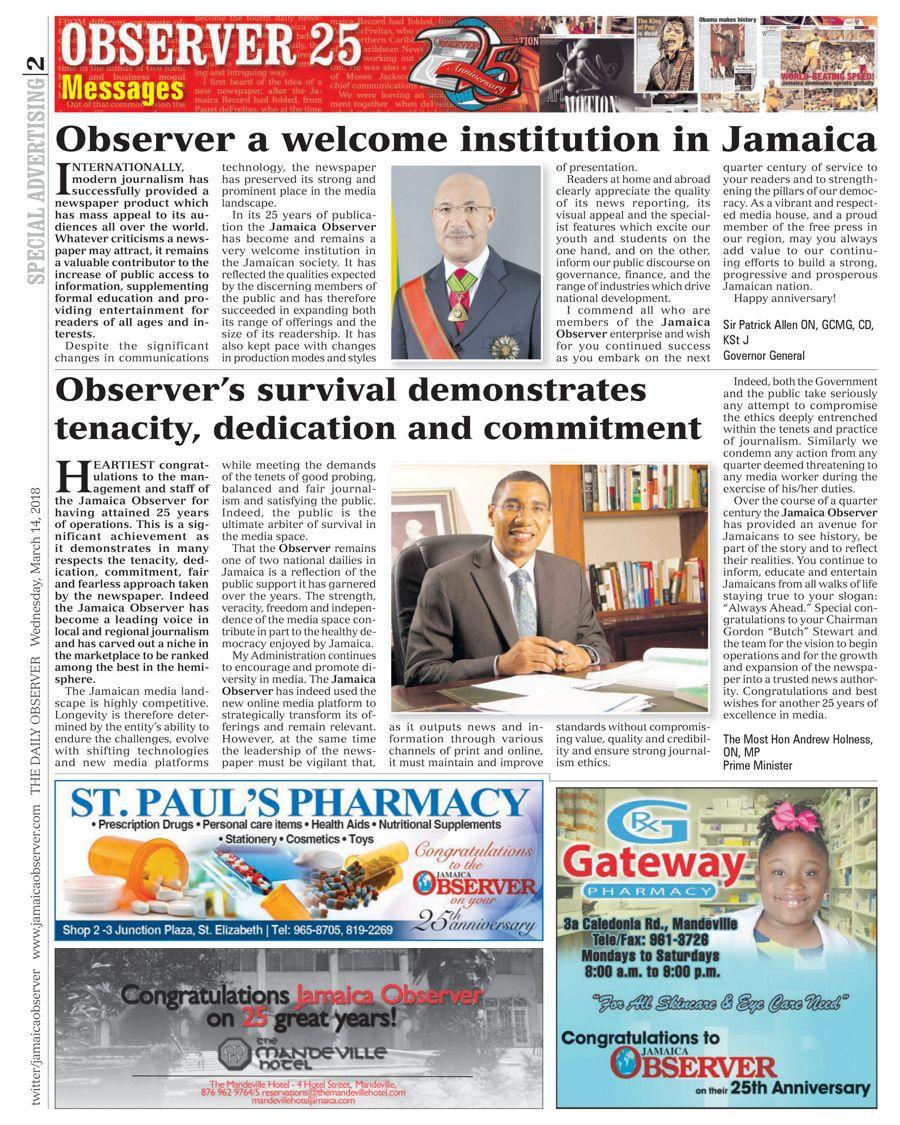 168b6837e02 Jamaica Observer: Jamaican News Online – the Best of Jamaican ...