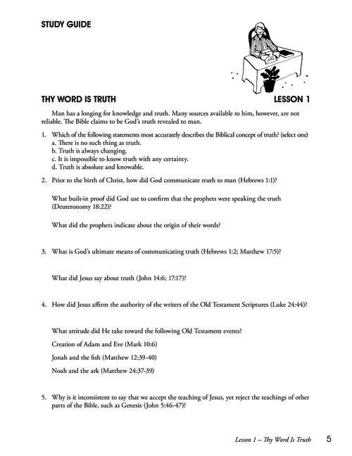 Survey in Basic Christianity