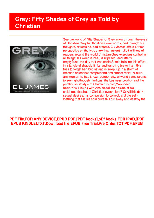 50 shades of grey free pdf download for ipad