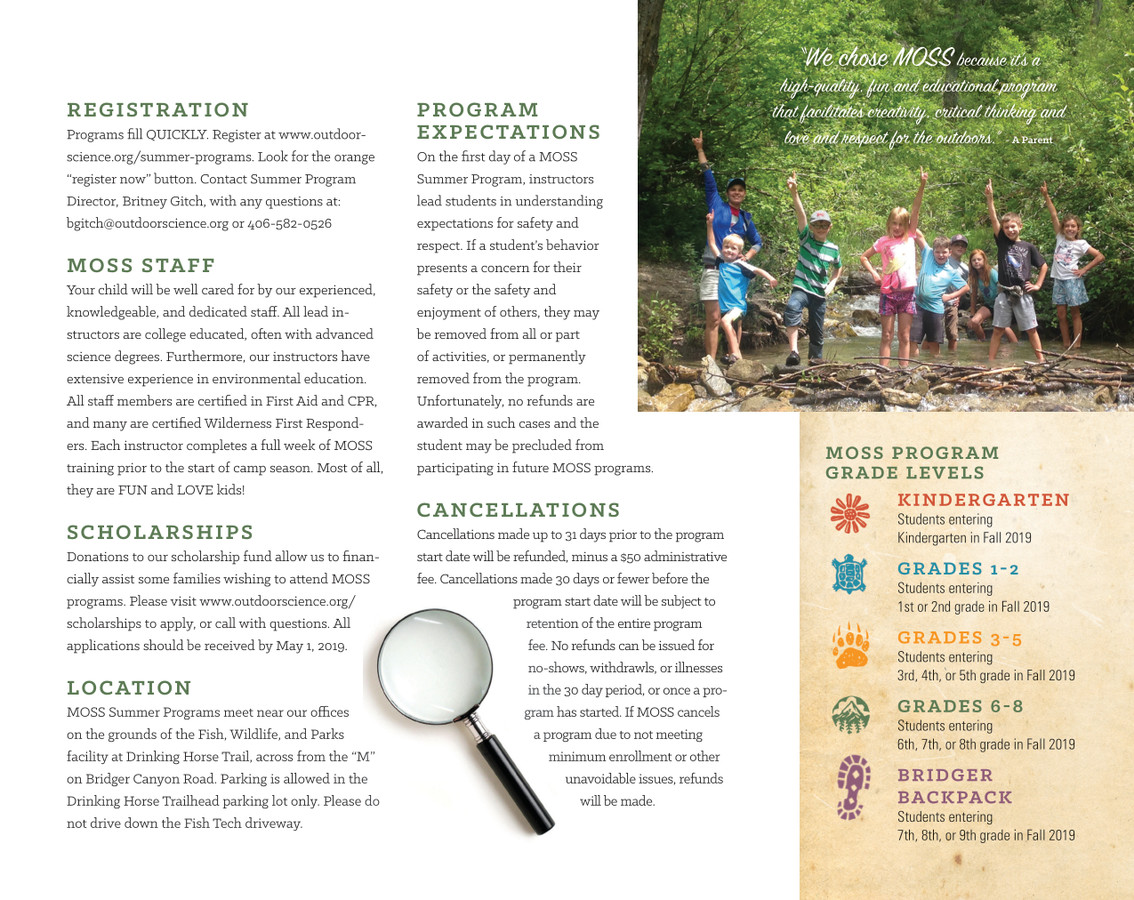 Summer Programs — Montana Outdoor Science School
