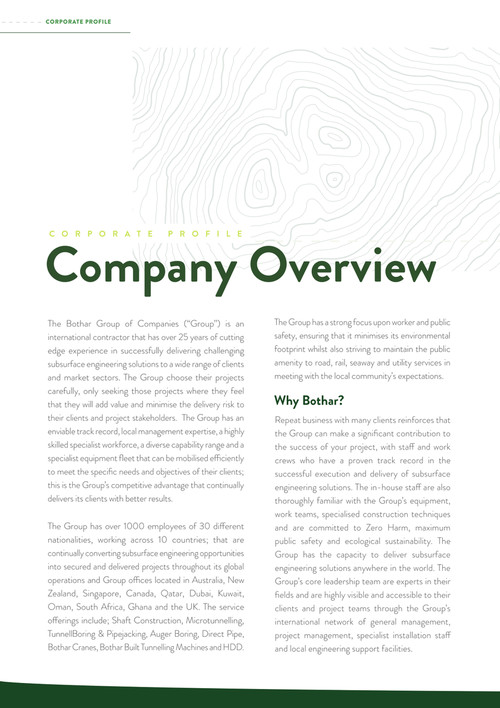 Corporate Profile - Bothar Group of Companies