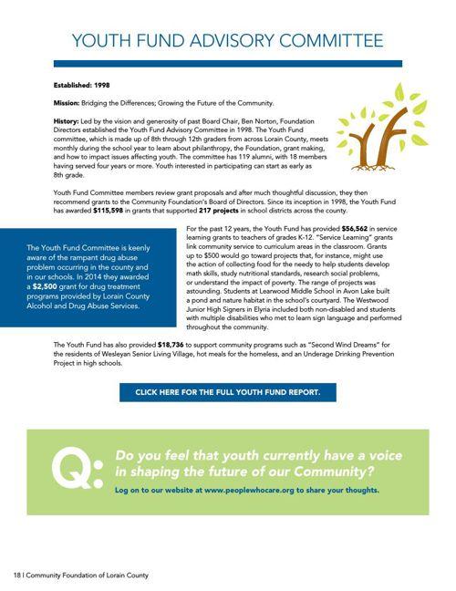 Annual Reports - Community Foundation Lorain County