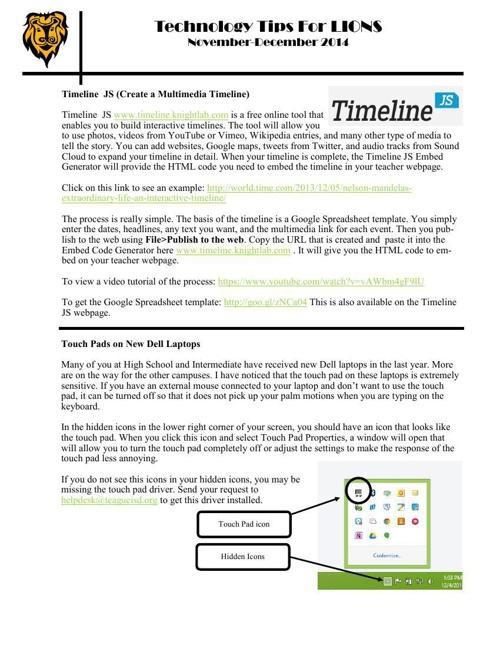 Tech Tips for Lions Nov-Dec 2014 by callen - Flipsnack