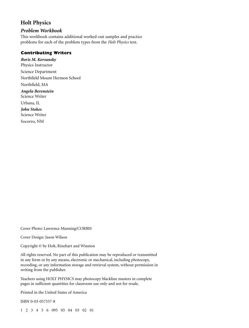 Workbooks » Holt Physics Worksheets - Free Printable Worksheets ...