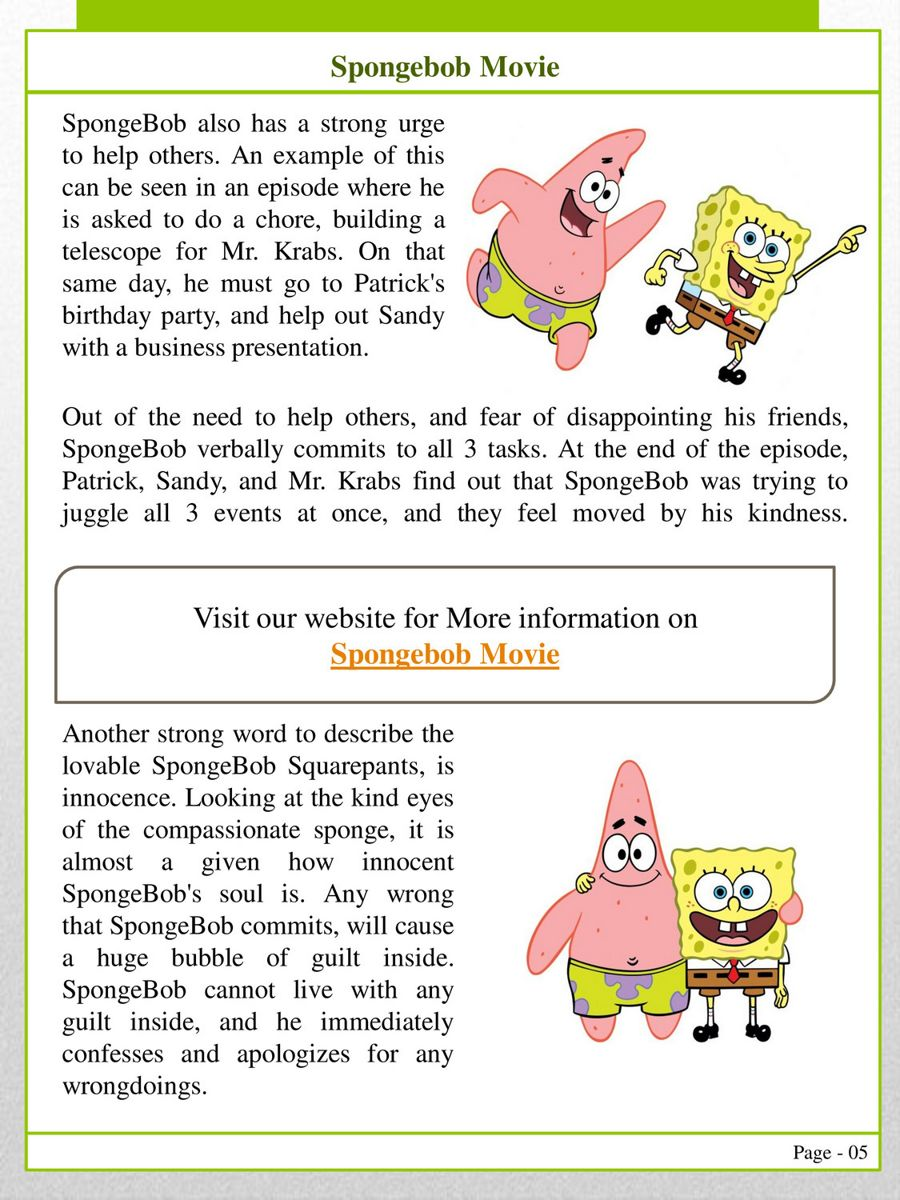 flipsnack spongebob squarepants by spongebob in