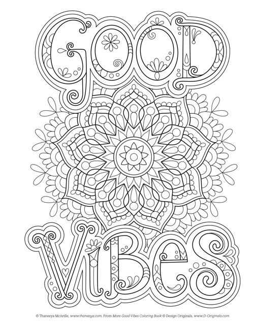 More Good Vibes Coloring Book Fox Chapel Publishing