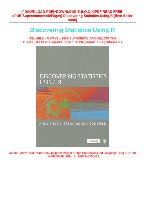 discovering statistics using r pdf free