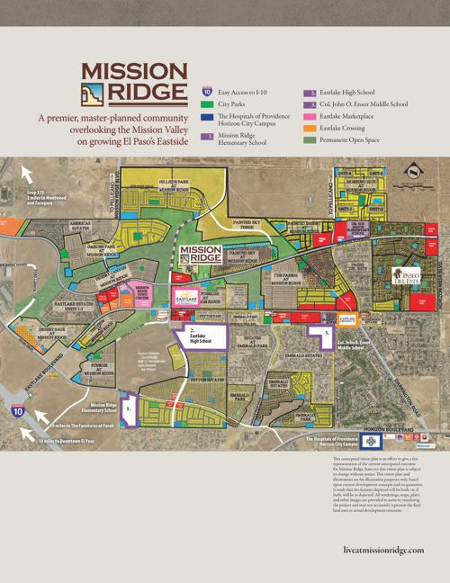Mission Ridge El Paso | New Home Development El Paso on map of bethany beach communities, map of calgary communities, map of myrtle beach communities, map of oregon coast communities, map of temecula communities, map of north dallas communities, map of scottsdale communities,