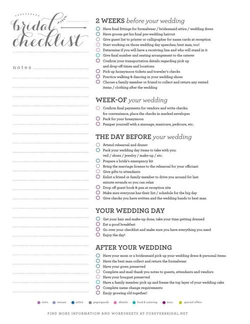 Wedding Organizer Planner – Wedding Day Timeline Worksheet