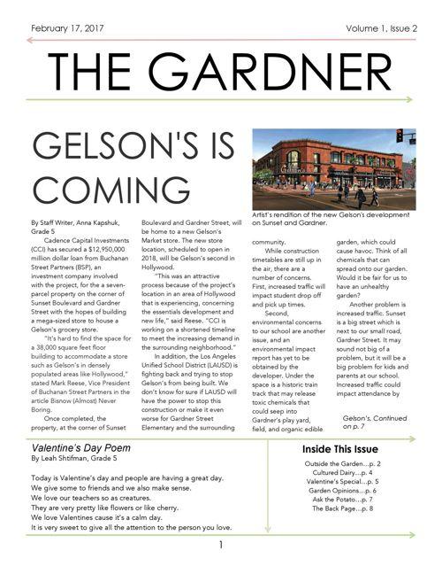 i>The Gardner</i> — Gardner Street School