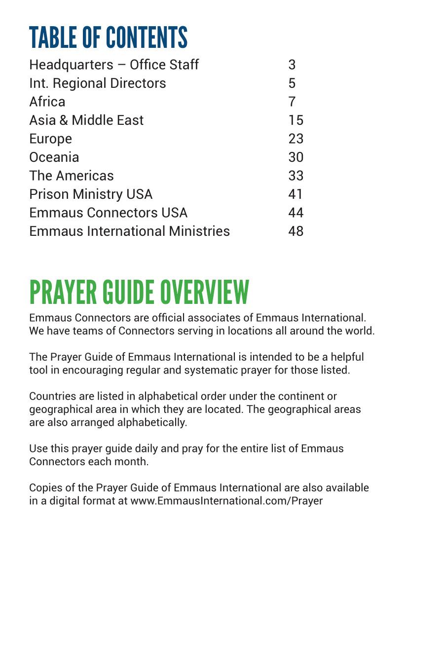 WORLDWIDE DIRECTORY - Emmaus International — Correspondence
