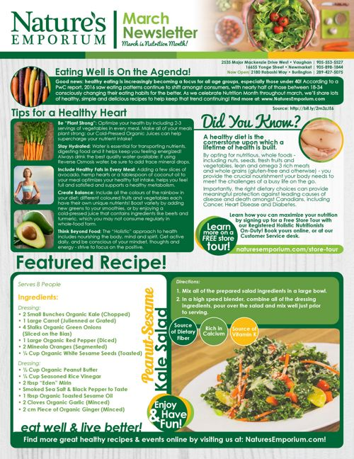 03 2017 Nutrition Month Newsletter Nature S Emporium By Natures Emporium Flipsnack