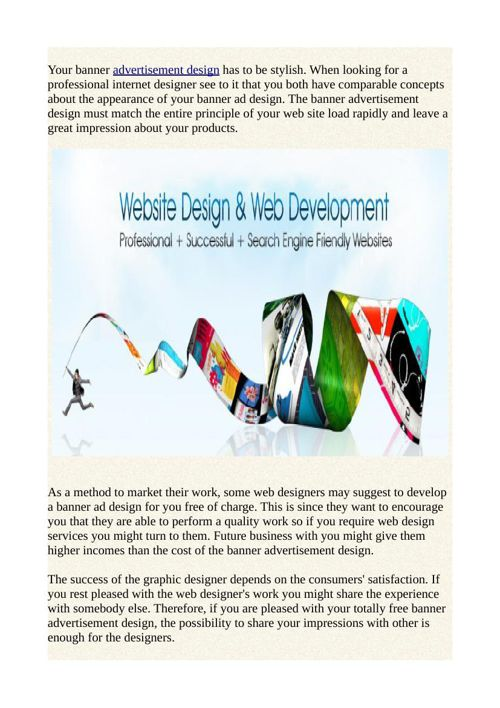 The Importance of a Quality Banner Ad Design by shonivyan