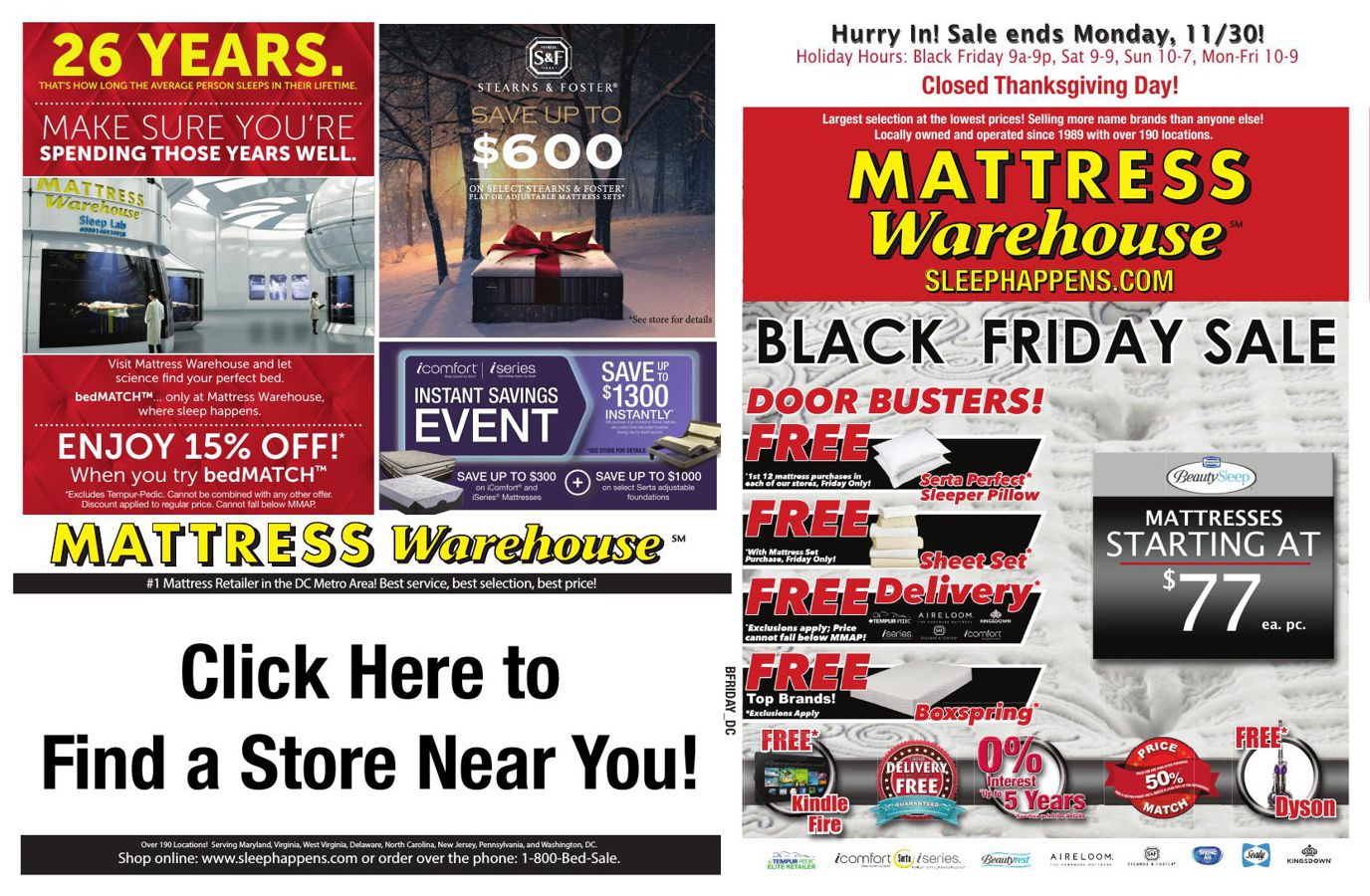 flyers canada friday black more to flyer thumbnail the sale brick november pre mattress