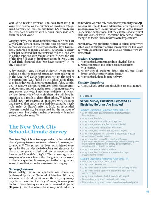 School Discipline Reform & Disorder: Evidence From NYC