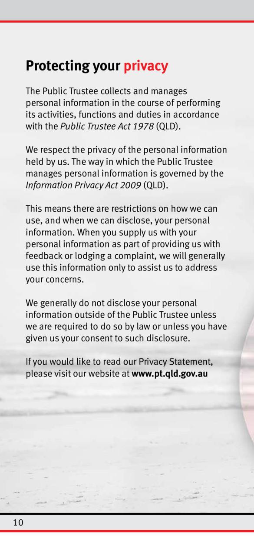 Brochures and videos - The Public Trustee of Queensland