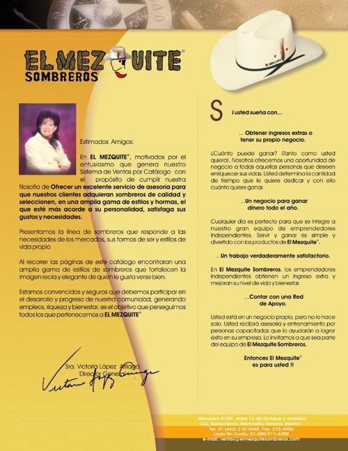 Catálogo de Sombreros El Mezquite by aurenad - Flipsnack af7fb4c2980