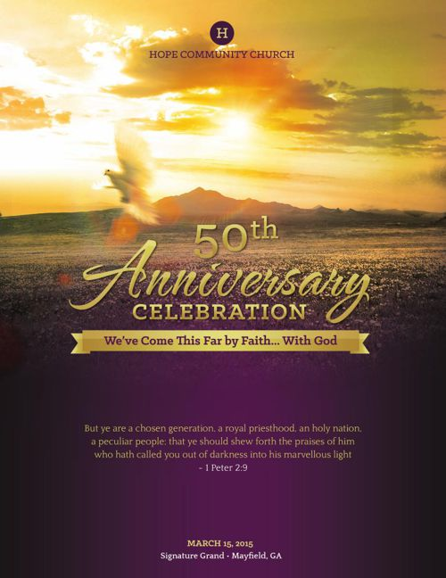 church anniversary service program large template by michael taylor